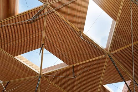 Edmonton School roof interior detail