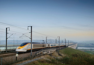 Medway Bridge and the Eurostar train