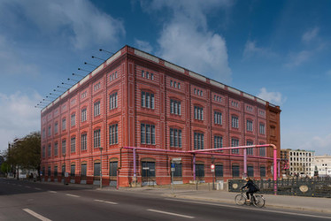 Scaffold wrapped building