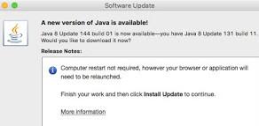 USPTO and Java v8 update 144 build 01