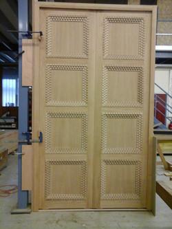 Porte double parement