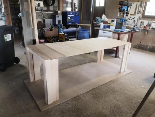 Table extensible - Frêne et noyer