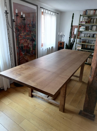 Table avec rallonges