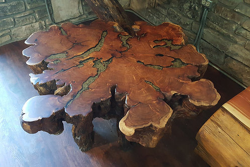 Mesquite Burl Cross Section Coffee Table