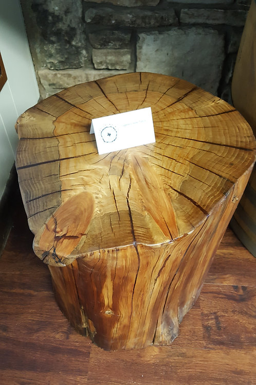 Cypress Log Side Table