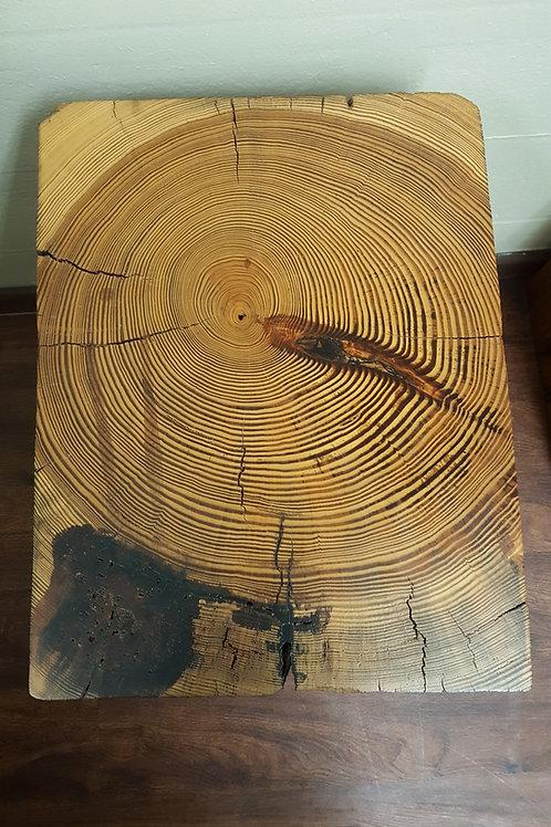 Long Leaf Pine Industrial Beam Side Table, ca 1905