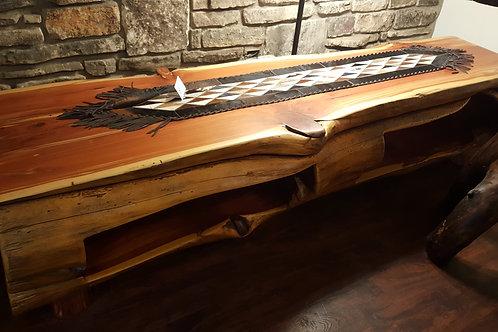Aromatic Red Cedar Log Coffee Table