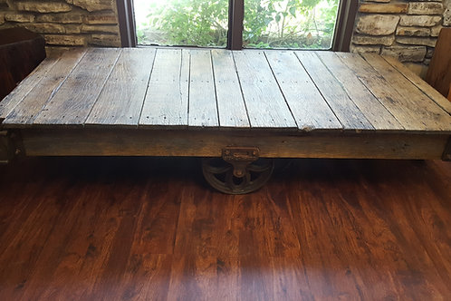 Restored Factory Cart Coffee Table