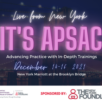 """Announcing, """"Live from New York, it's APSAC!"""" December 14-16, 2021 in Brooklyn, New York"""