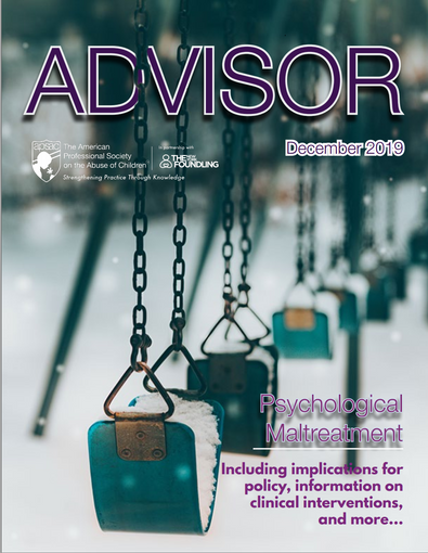 New! APSAC Advisor 31(3): Psychological Maltreatment Special Issue