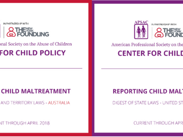 From the APSAC Center for Child Policy: The Digest of Child Maltreatment Reporting Laws