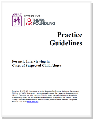 APSAC Practice Guidelines Now Free