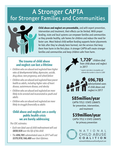 """The National Child Abuse Coalition Releases """"A Stronger CAPTA for Stronger Families and Communi"""