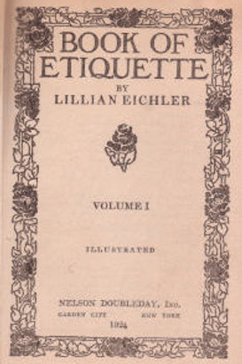Book of Etiquette, Volume I