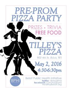 Pre-Prom Pizza Party