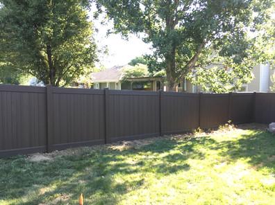 Chestnut Brown PVC Fence