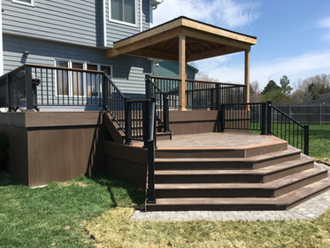 Custom Design Deck - Cedar Roof w/ Exposed Framing