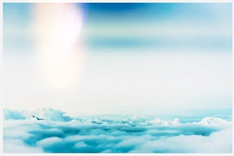 Pillar above the clouds