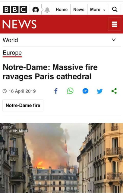 Overturned by fire