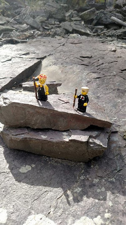 Legos hike too! #legos #rogueroadies