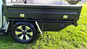 Isuzu D - MAX Ute Tray and Tool Boxes finished off in #Shinglebackcoatingsystem Satin Black 🔥.