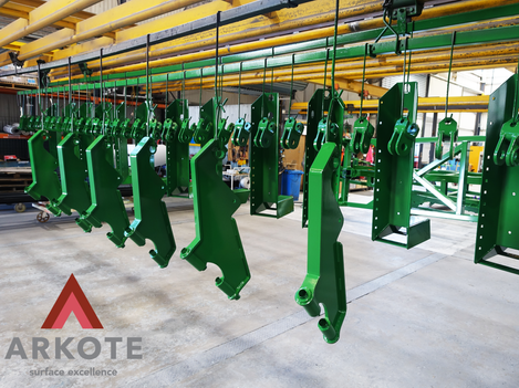 Agricultural Machinery Components coated with a #Tuffkote by Arkote coating system.