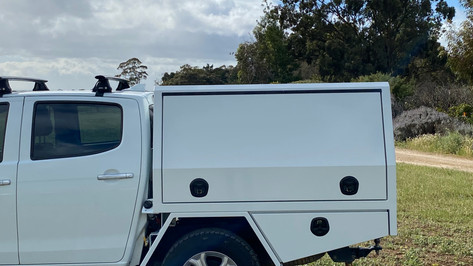 Take a look at recently top coated Canopy with a Premium ✨#Shinglebackcoatingsystem. Colour - Isuzu White.