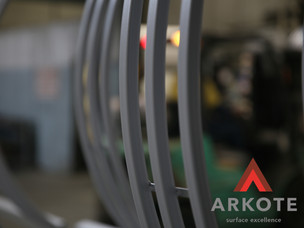 Powder coated metal with Endurakote by Arkote coating system.