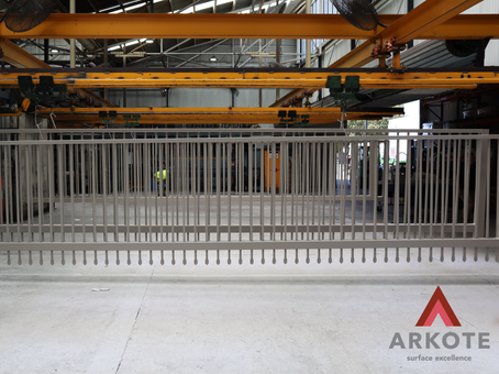 Very large gates coated with #Tuffkote by Arkote coating system.