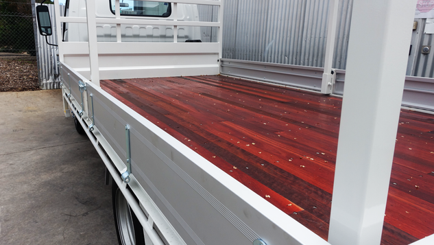 Truck Tray Top Coated with a #Shinglebackcoatingsystem to make it last and looking great year after year ❗️👌Coating Colour - Isuzu Artic White.