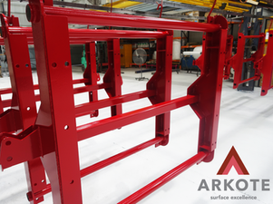 Large suspension hangers coated with a #Tuffkote by #Arkote coating system 👌.