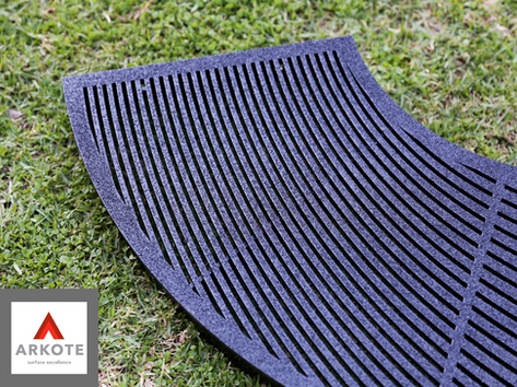 Tree Guards coated with #Grippakote Anti - Slip coating system.guards.