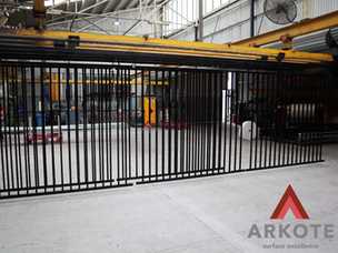 Top coated Fence Panels with #Kolorkote by #Arkote coating system.