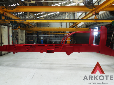 Chassis top coated with #TUFFKOTE by #Arkote coating system 👍.