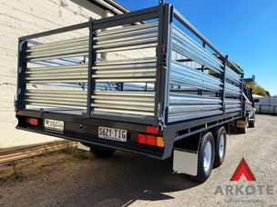 Heavy Duty Trailer Top coated with quality coating system #Tuffkote by #Arkote.