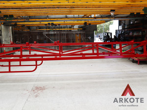Shadow Boom Outer Wings top coated with Tuffkote by Arkote coating System.