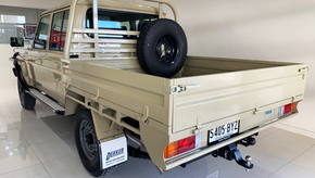 Take a look at the top coated 79 Toyota Land Cruiser Ute Tray colour - Sandy Taupe.