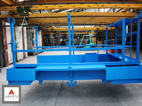 Heavy Duty Trailer top coated with Kolorkote by Arkote coating system.