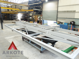 Very Large Panel Lift doors top coated with #Endurakote by #Arkote coating system.
