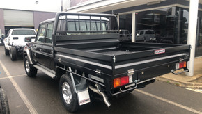 Top coated 79 Toyota Land Cruiser ute tray. Colour - Toyota Graphite 1G3