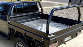 Ute Tray Top Coated with #Shigleback coating system. Coating Colour - Satin Black.