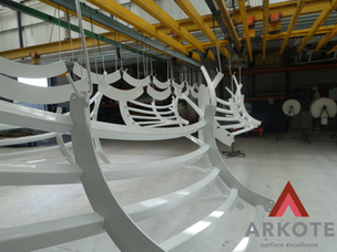 Tree Guards Top Coated with #Kolorkote by #Arkote coating system.