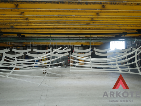 Tree Guards Top Coated with #Kolorkote by #Arkote coating system.  ✅Great appearance; ✅Reasonable level of resistance to light abuse & damage.