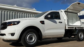 Tray Top Canopy & Toolboxes top coated with super tough #Shinglebackcoatingsystem. Colour - Ford Ranger Arctic White.