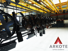 Metal Castings top coated with #Kolorkote by #Arkote coating system.
