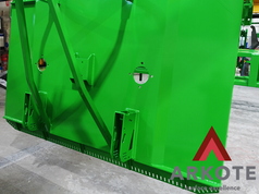 Sharing with you an excellent result of powder coating a Slasher with a #Tuffkote by #Arkote coating system 👌.