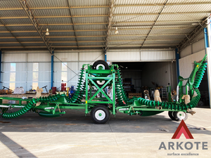Excellent result of Agricultural Equipment recently powder coated by #Arkote using #tuffkote coating system.