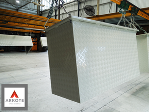 Explosive Boxes top coated in #Tuffkote by #Arkote coating system.