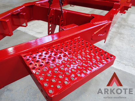 Chassis top coated with #TUFFKOTE by #Arkote.