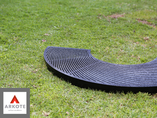 Tree Guards coated with #Grippakote Anti - Slip coating system.